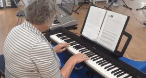 Senior Citizens Learn Piano